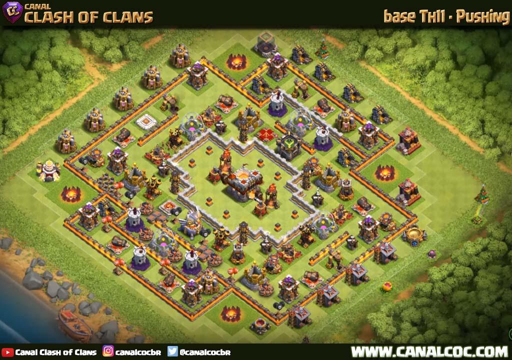Base Coc Th11 Push Trophy 4