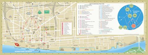 Detroit downtown map