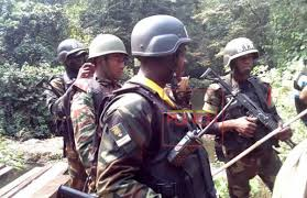 Cameroonian soldiers in cross river