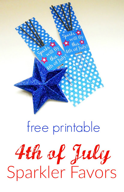 4th of July party favors with printable