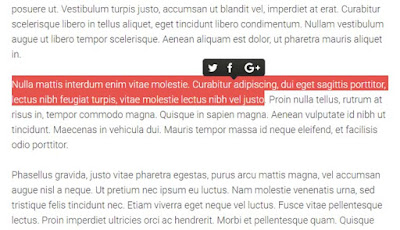 Cara Membuat Select Text dan Share Text di Blog