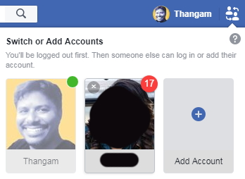 switch or add account