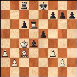 Partida ajedrez Alexander Domene – Gerard Añó, II Memorial Arturo Pomar Salamanca 2017, Sub-10, posición después de 30.Ac3?