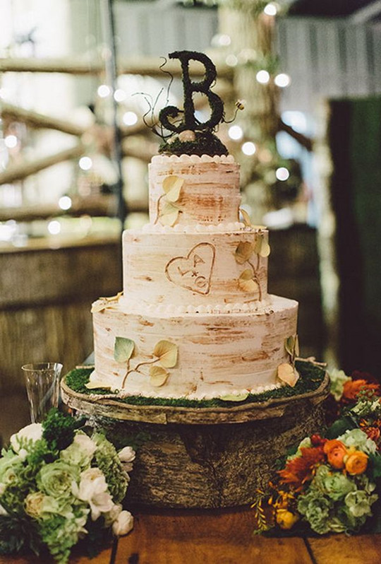 vintage fall wedding Bird cage cake inspirations