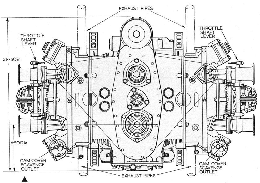 yorkshire ferret  the brm h16 engine  u2013 part 2  engine layout