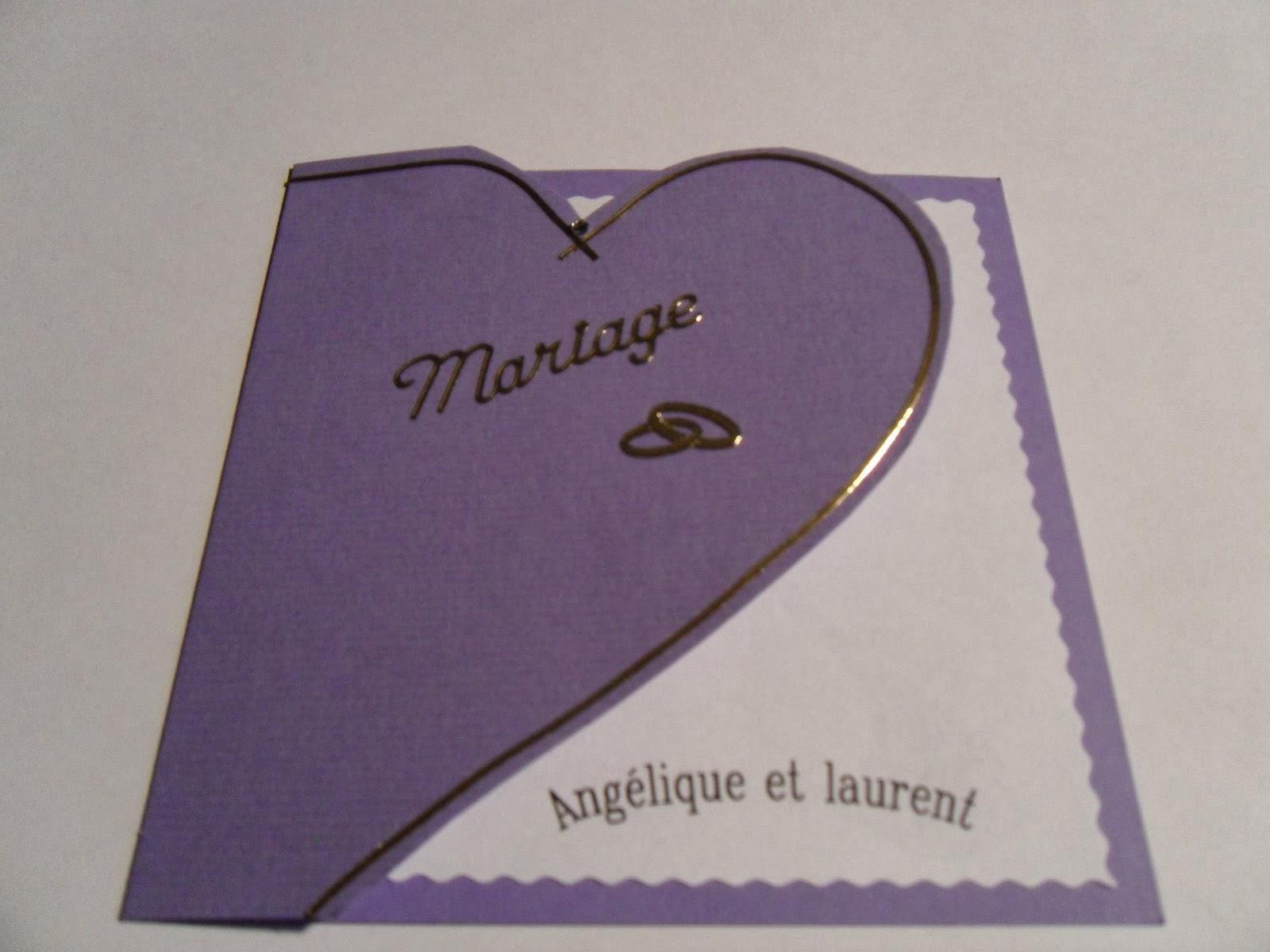 carte de mariage fait main invitation mariage carte mariage texte mariage cadeau mariage. Black Bedroom Furniture Sets. Home Design Ideas