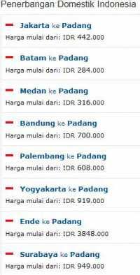 Tiket Pesawat Murah Padang Pdg Wisesatravel Com