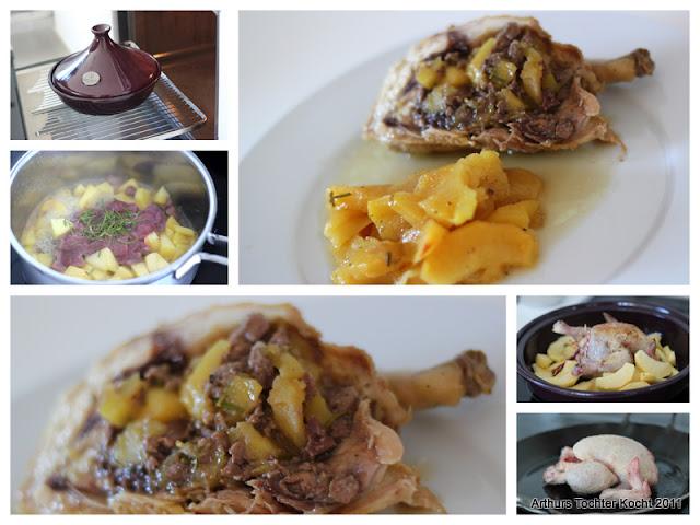 Gefülltes Stubenküken mit Rubinette (Äpfeln) aus der Tajine | Arthurs Tochter kocht. Der Blog für Food, Wine, Travel & Love von Astrid Paul
