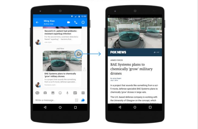 Facebook Messenger Gets Instant Articles on Android