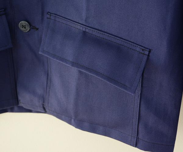 デッドストック90年代ヴィンテージフランスワークジャケットモールスキンインクブルーFUNS