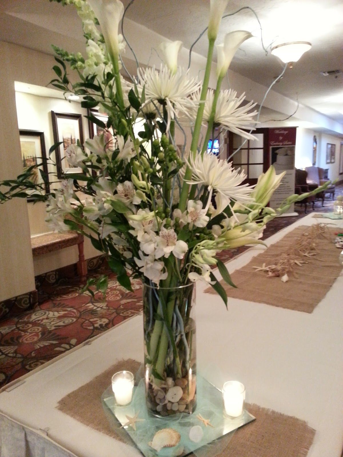 Kreations By Kendall Beach Themed Floral Arrangement