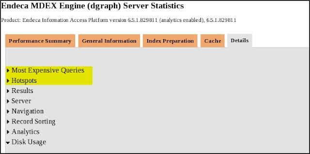 Endeca MDEX Performance Statistics