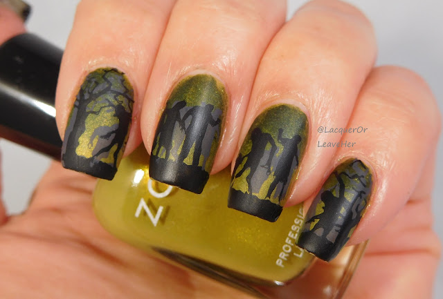 UberChic Beauty Zombie Love 02 over Zoya Tabitha and Scout, matted