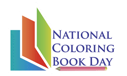 national coloring book day banner