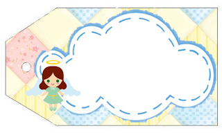 Baby Girl Baptism: Free Printable Invitation and Labels for Candy Bar.