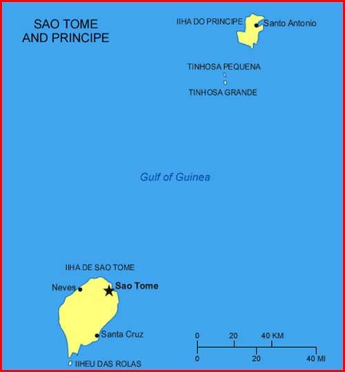 Gambar Peta Sao Tome dan Principe
