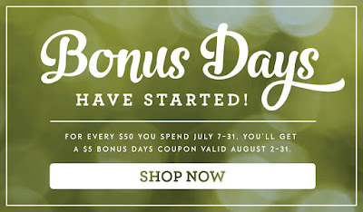 Stampin Up Coupon Code shop until July 31 to earn yours