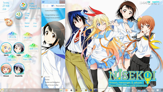 Windows 10 Ver. 1803 Theme Nisekoi by Enji Riz