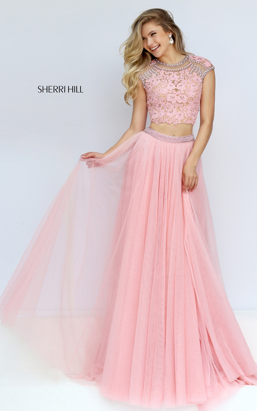 2016 Homecoming Dresses: Sherri Hill 50110 Lace Two Piece ...