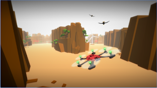 Game Drone Racer : Canyons App