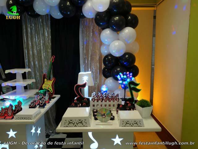 Decoração de aniversário Discoteca