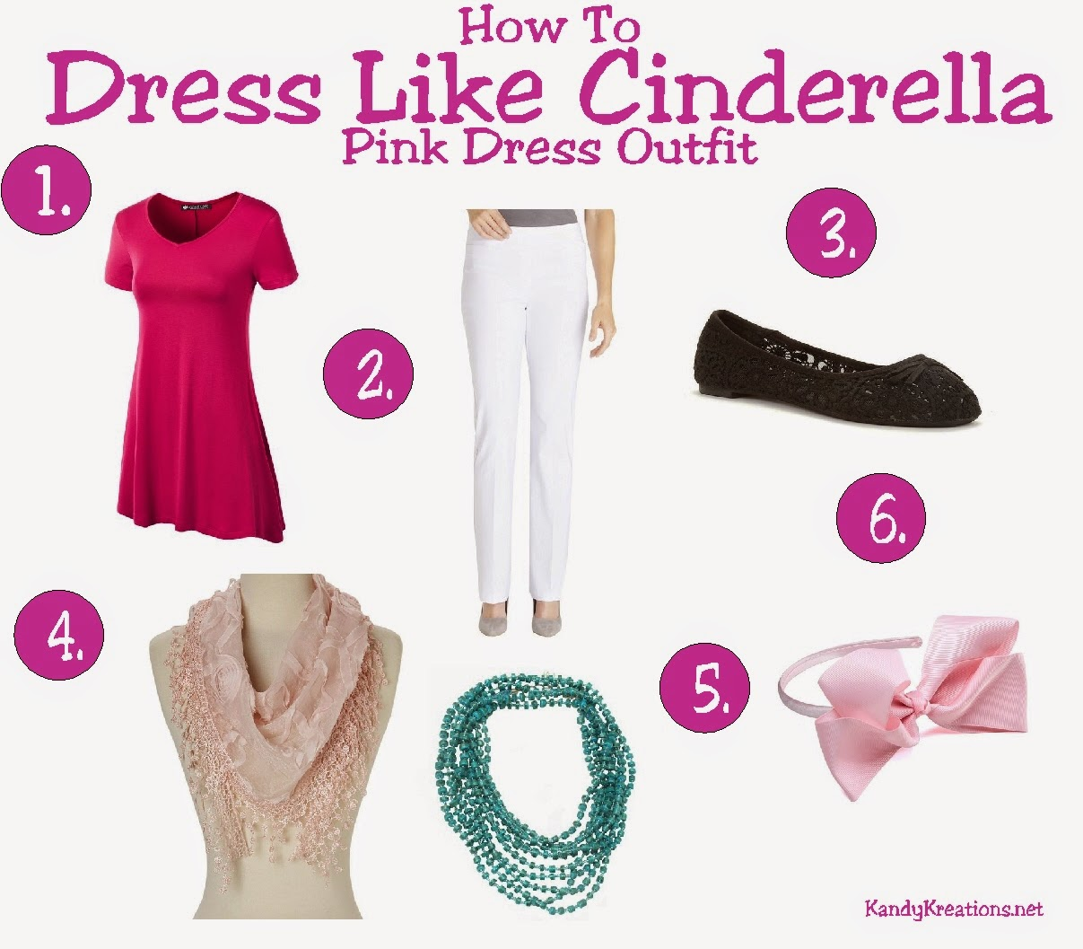 How to dress like Cinderella in her Pink Dress by KandyKreations