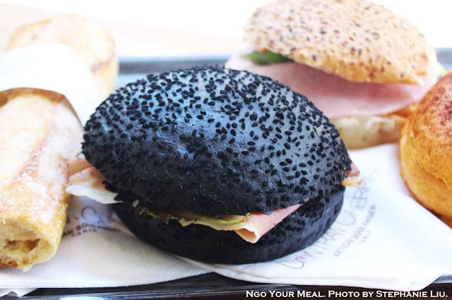 Squid Ink Bun Sandwich at Gontran Cherrier in Paris