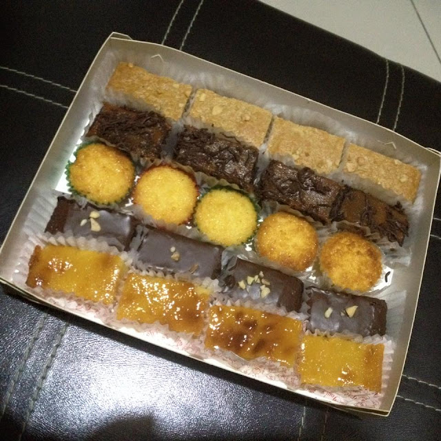 A box of assorted pastries from Yoyi's Pastries and Desserts