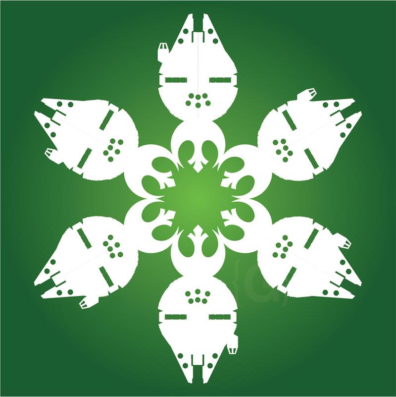 millenium falcon snowflake