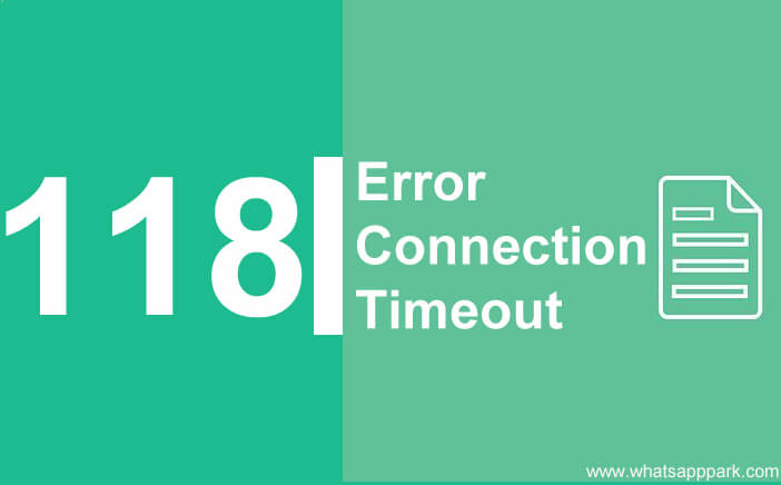 error 118 net err_connection_timed_out fix