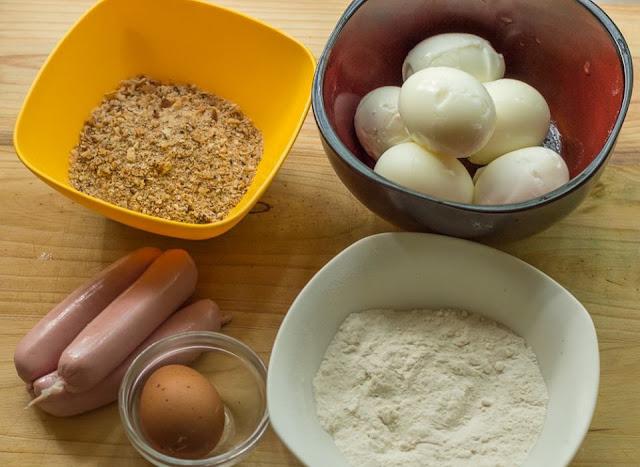 Crispy Delicious Scotch Eggs ingredients