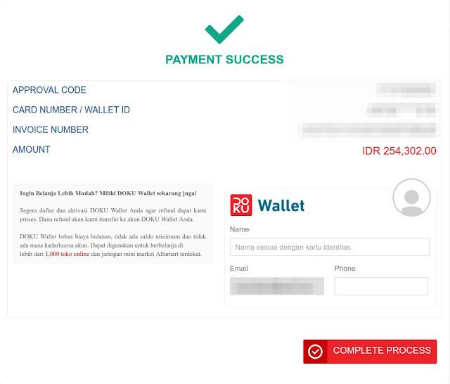 Pembayaran Aliexpress dengan Internet Banking Berhasil