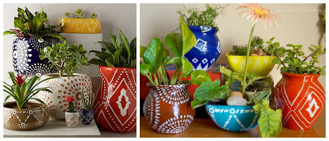 handpainted Pots and Planters