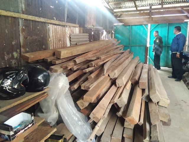 Barang Bukti Ilegal Logging Diduga Banyak Berkurang