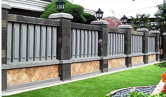 Model Pagar Tembok Rumah Mewah Minimalis