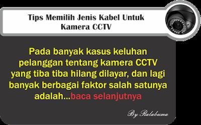 Cara Memilih Jenis Kabel Kamera CCTV