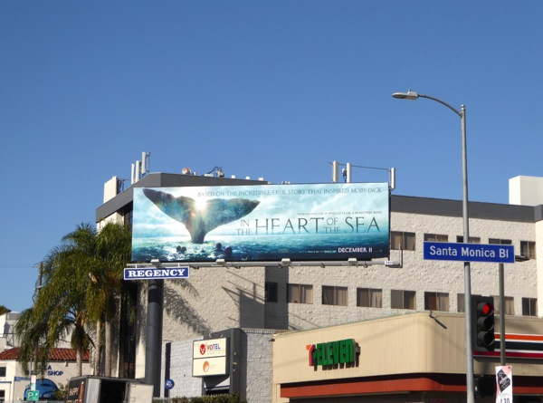 Heart of the Sea movie billboard