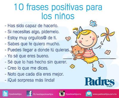 Frases positivas para nuestros hijos