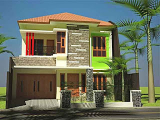 Simple 2-storey minimalist house - Lampung interior house