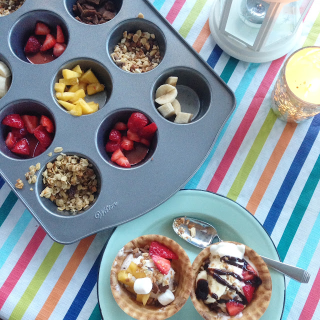 muffin tin ice cream toppings