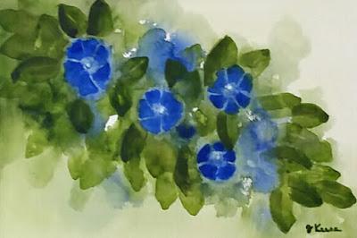 Morning Glories Watercolor - JKeese