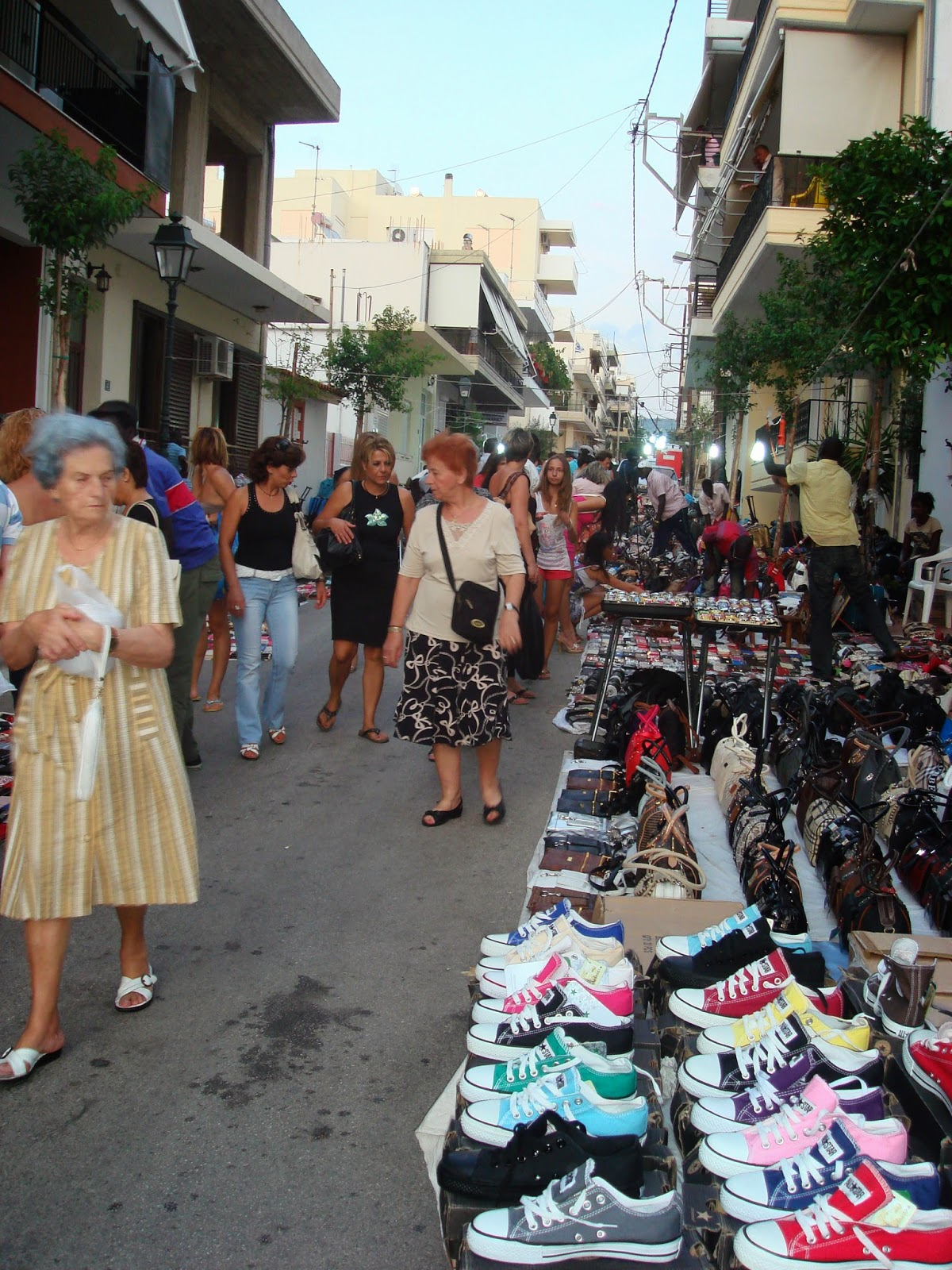 "Street market, ""Panigiri day"", Loutraki"
