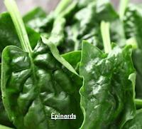 Épinards aliment pour stimuler l'énergie