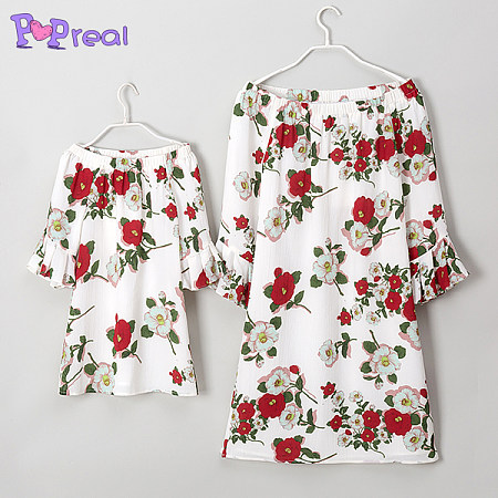 https://www.popreal.com/Products/mom-girl-off-the-shoulder-flowers-trumpet-sleeve-dress-7156.html?color=white
