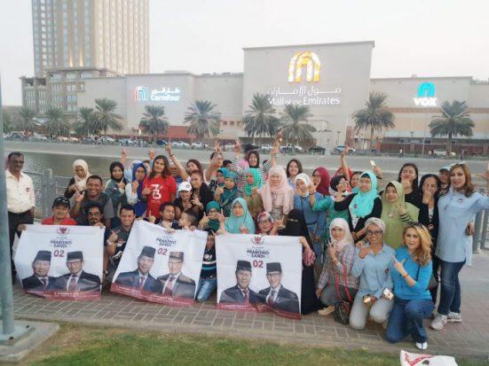 Didominasi Emak-emak, Relawan Dubai Doakan Prabowo-Sandi Menang