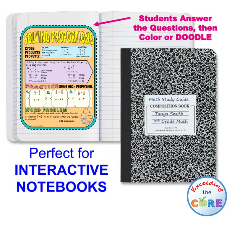 NEW! Guided Doodle Notes for Your Students Notebooks