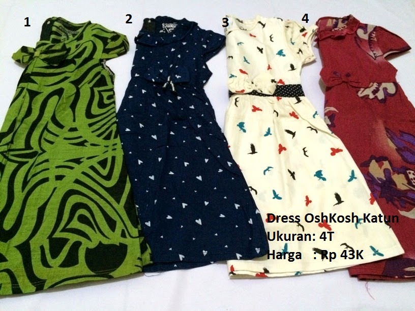 Baju anak branded  Baju anak perempuan branded OshKosh (Dress) 55b31a24d6
