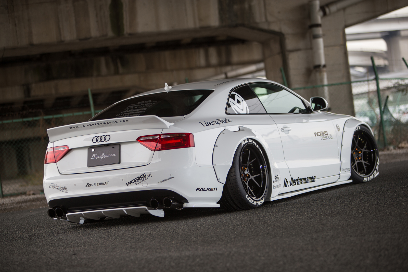liberty walk gives the audi a5 more stance. Black Bedroom Furniture Sets. Home Design Ideas