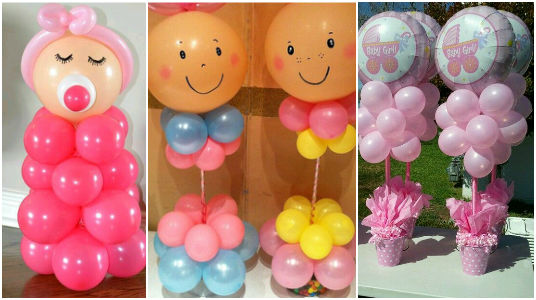 Preciosas Manualidades Ideas Para Decorar Un Baby Shower Con Globos
