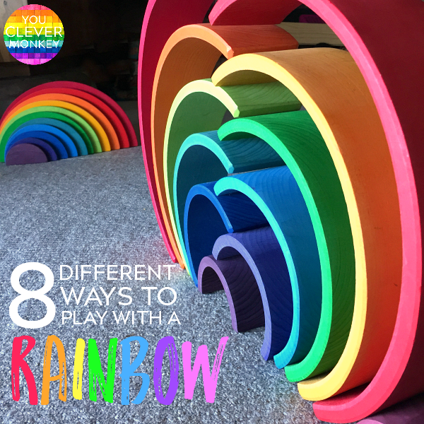 8 Different Ways for Play with a Rainbow Stacking Toy | you clever monkey